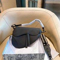 Womens Designer Calfskin Iconic Sattel Schnalle Bag Italien Marke Umhängetaschen Schräge Leinwand mit Multicolor Motiv Strap Luxurys Crossbody-Geldbörse