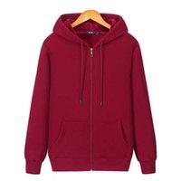 Winter Plus Men Hoodie Velvet Thick Pure Cotton Solid Color Warm and Soft Ladies Zipper Coat Casual Sweatshirt