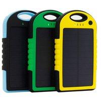 5000mAh الطاقة الشمسية قوة البنك للماء صدمات الغبار المحمولة الطاقة الشمسية بطارية خارجية لجميع الهاتف الذكي