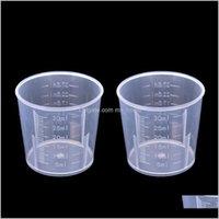 Grade 플라스틱 컵 음식 주방 스케일 바 DIY 베이킹 도구 20ml30ml50ml500ml WMTEH MGMG2 8HBMI와 함께 식사를 측정하기위한 투명