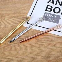 Ballpoint Pens Pen Pen Симпатичные ананасовые Формы Черные Чернила Гель Студент Канцтовары Гладкий сочинительство Роликовые Шариковые Школьные принадлежности 1 мм