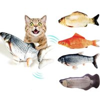 Cats Wagging Catnip Toy 35CM Dancing Moving Floppy pets Fish Toys USB Charging Simulation Cat Electronic ToyZC584