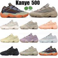 Yzy Kanye Boost 500 Ayakkabı Erkek Kadın Koşu Ayakkabısı Enflame Taupe Light Lavender Utility Triple Black Salt Blush Soft Vision White Spor Sneakers Eğitmenler Boyut EUR 36-46