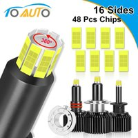 2pcs 48 Chips H1 H7 H8 H11 LED Lamp Car Headlight Bulbs HB3 9005 HB4 9006 3D LED Canbus 360 Degree 6000K 18000LM Auto 9012 Hir2 210429