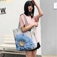 Casual Fashion Large Volume Linen Bags Women's Shopping Bag Artistic Style Tote Bagss Student Shoulder handag P009