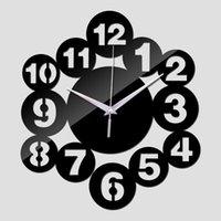 Wall Clocks Acrylic Mirror Sticker Clock Watch Home Decoration Reloj De Pared Horloge Quartz Living Room