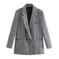 Women's Suits & Blazers The Europe And United States In Autumn Wind Dress 2021 Plover Case Leisure Suit Jacket 21305
