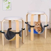 Cat Beds & Furniture Cage Mat Canvas Warm Swing Play Bed With Anti Slip Straps 2021 Kitty Hammock Hanging Pet
