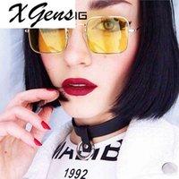 Kadın Erkek Marka Gözlük Metal Güneş Gözlüğü Temizle Lens Çerçeveleri Altın Kare Şöhret Gözlük Optik Erkek Kadın Gafas