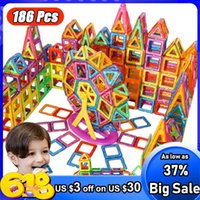 Big Size Magnetic Designer Magnet Building Blocks Accessories Educational Constructor Toys For Children Q0624