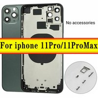 Back Housing For iPhone 11Pro 11Pro Max Middle Frame Housing Battery Door Rear Cover Body with Flex Cable Parts Assembly