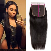 5x5 Straight Human Hair Transparent Lace Closures Pre Plucked Natural Hairline Bleached Knots