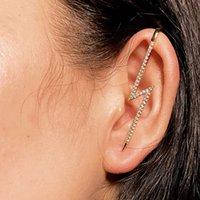 Hiod Ear Wrap 크롤러 후크 귀걸이 여성용 패션 독특한 골드 커프 귀걸이 세트 지르콘 귀 보석 세트