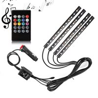 Streifen Automobil Atmosphäre Lampe Sohle LED-Beleuchtungen Bunte Fernbedienung Sound RGB Music Rhythmus 12smd