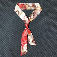 Шелковый шарф для женщин ленточные волосы Riband сумка украшения ленты галстука весна летняя мода аксессуары длинные шарфы