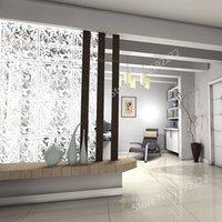 Biombo 12 PCS White Hanging Room Divisore realizzato in PVC rispettoso dell'ambiente, pareti divisorio schermo pannelli per decorare, mangiare, hotel