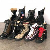 Couro Genuine Mulheres Tornozelo Botas Bordadas Laureate Plataforma Martin Botas de Calcanhar Star Star Trail boot bota de inverno