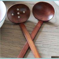العشاء مجموعات المطبخ، شريط الطعام حديقة المنزل سريع أدوات المائدة خشبية السلاحف حساء ملعقة اليابانية رامين مقبض طويل مصفاة وعاء PRAC
