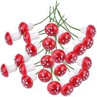 미니 레드 버섯 정원 장식 미니어처 식물 냄비 요정 마이크로 미니어처 거품 용품 # J20 장식 꽃 화환