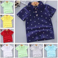 Summer Polo Shirt bébé garçons fille à manches courtes vêtements vêtements enfants coton imprimer tops respirants vêtements pour enfants 12m-5y