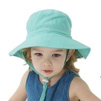 Bambini Sunblock per bambini Cappello per bambini Primavera Estate Sun Cap Boys and Girls Baby Beat Traspirante Caps Beach Copricapo HHD6399