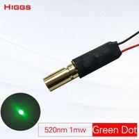 Wysoka stabilność 520nm 1mW Green Dot Laser Moduł Class1 DC 3-7V Head Industrial Grade Winter Sight Optical Signal Source Portable Lampion