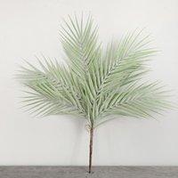 Sztuczne Rośliny Palm Bukiet Domek Dekoracja 7 Liść Zielony Różowy Niebieski Plastikowy Wewnątrz Fałszywy Greenery Wystrój Ogrodowy Dekoracyjne Kwiaty Wrea