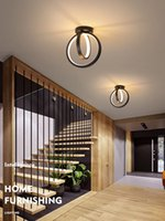 Black Gold LED Ceiling Light Home Foyer Entrance Aisle Corridor Porch Channel Modern Cold White Warm Surface Mounted Small Lamp R436