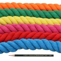Corda di cotone di spessore colorato da 20 mm 2 metri / 5 metri ad alta tenacità contorto corda a corda all'aperto campeggio all'aperto accessori fai da te 14 colori filati