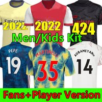 21/22 Arsenal Camisas de futebol versão Torcedor jogador 2021 PEPE ODEGAARD SAKA NICOLAS TIERNEY HENRY WILLIAN LACAZETTE Homens crianças kits Camisa de futebol