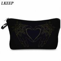 2019 Love Heart Pattern Women Clutch Cosmetic Bag Make Up Organizer Fashion Women Printing Multifunction Portable Makeup Bags C7Et#