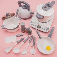 Simulation Kunststoff Lebensmittel Kochgeschirr Pot Pan Kinder Küche Spielzeug Aufkleber Pretend Play Miniature Spiel Essen Für Mädchen Puppe Essen