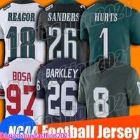 1 Jalen Hurts Jersey Ncaa College Football 26 Miles Sanders Jerseys 18 Jalen Reagor 86 Zach Ertz Jersey Jason Kelce Fletcher Cox Darius Slay