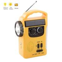Radio RD339 Emergency Weather AM FM Dynamo Light Solar Hand Crank Self Powered LED Lantern Charger Power Bank