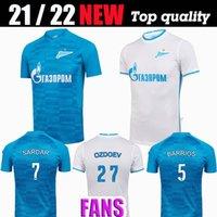 21 22 FC Zenit St. Petersburg Fußball Jersey Home Away Blue Grey Malcom Lovren 2021 2022 Santos Barrios Football Hemd Maillots de Foot