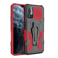 Kickstand TPU PC Hard Mobile Phone Shockproof Back Cover Cases For Xiaomi Redmi Note 10 5G MI11 MI10 NOTE9