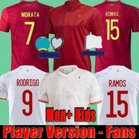 20 21 Version joueur Espagne Soccer Jerseys Fans Pre Match Polo Asensio Ramos Morata 2021 Espana Gardien de but Camisetas Chemises de football Hommes + Kids Kitskit