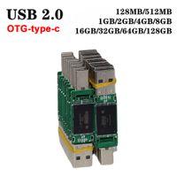 Waterproof usb memory flash drives 4GB 8GB 16GB 32GB 64GB USB2.0 PCB board U disk semi-finished chip pendrive wholesale