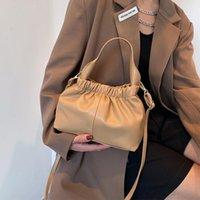 Evening Bags Pleated Shoulder Bag Female Crossbody Women Designer Handbag Purse Cloud Fashion PU Leather 2021 Trend All-match