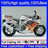 OEM-Körper für Honda CBR893 CBR900 RR 1989-1993 Karosserie 36No.52 CBR 893 900 CC 893RR 900RR 89 90 91 1992 1993 Orange Silver CBR893RR CBR900RR 1989 1990 1991 92 93 Verkleidung