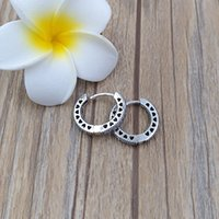 Authentic 925 Sterling Silver Studs Hearts Of Pandora Hoop Earrings Fits European Pandora Style Studs Jewelry ps2089