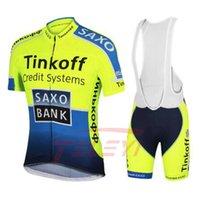 Tute da uomo Saxo Bank Tinkoff Team Set a sedia a rotelle Set di sedie a rotelle MTB Biciclette Pantaloncini respiratorie Abbigliamento PAK 20D Gel 0710