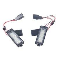 1 Çift 3 W / 12 V LED Numarası Lisans Plakası Işık Lambası VW Golf 4 5 6 7 Polo 6R Araba Dış Aksesuarları Beyaz LED Lisans Lambası