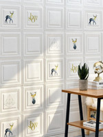 Wallpapers Foam Wallpaper Self-Adhesive 3D Wall Sticker Bedroom Cozy Waterproof Moisture-Proof TV Background Home