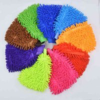 Household Cleaning Double Sided Car Washing Gloves Wool Cleaning Anti Scratch Car Washing Tools Automotive Supplies_YY