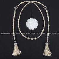Gioielli di lusso Collana di cristallo perla nappa di alta qualità per le donne Regali da donna 2021 Trend Designer Classic Logo Catene