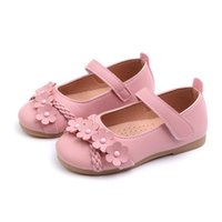 Sneakers 2021 Spring And Autumn Flats Girls Children Shoes Baby Flowers Woven Princess Solid Color Breathable Performance Dance