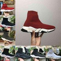 Toptan 2021 Yeni Hız Trainer Siyah Kırmızı Lüks Yüksek Rahat Çorap Ayakkabı Erkekler Kadınlar Ucuz Moda Paris Tasarımcı Sneakers Yüksek Kalite EUR36-45 C3