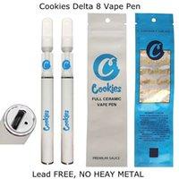 Çerezler Delta 8 Tam Seramik Tek Kullanımlık Vape Kalem Sigaralar Şarj Edilebilir 290 mAh Pil 0.5 ml Boş 510 Kartuş Çanta Ambalaj