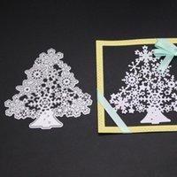 Живопись поставляет Рождественская елка металла резки умирает снежинки трафареты DIY Scrapbooking PO декоративные тиснения ремесел шаблон 2021